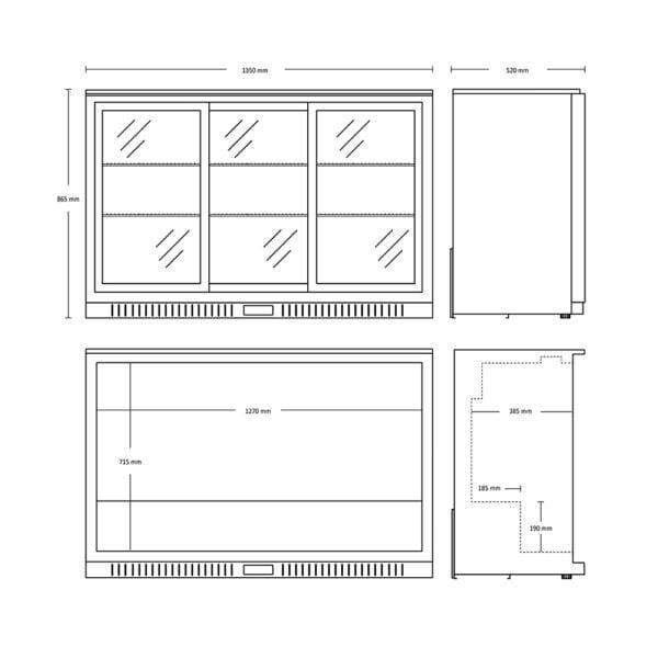Backbar 2 skydelåger