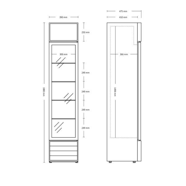 SD217E flaskekøleskab