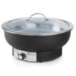 Elektrisk Chafing dish - rund med glaslåg