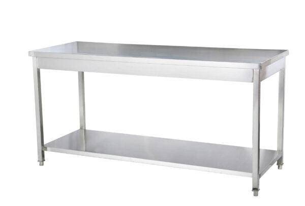 Arbejdsbord i rustfrit stål med underhylde (saml selv)