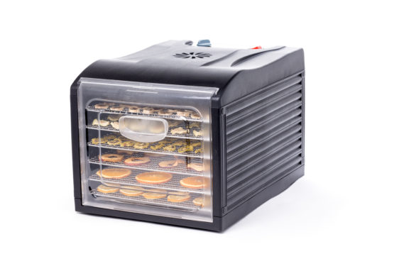 Dehydrator til 6 bakker - gennemsigtig glasdør