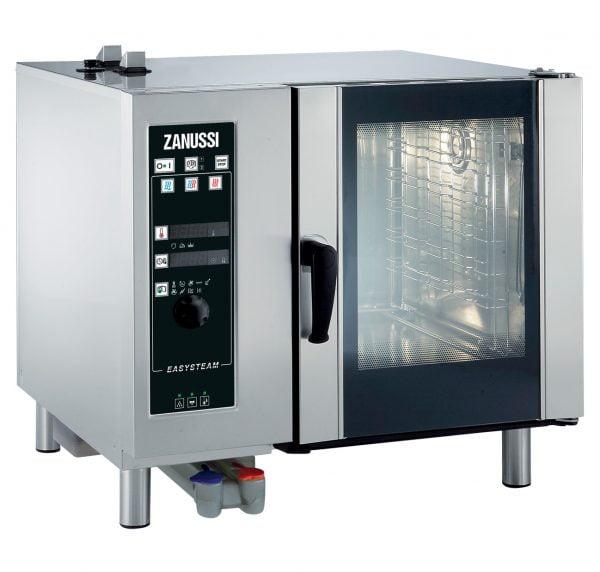 EASY PLUS KONVEKTION 6X1/1GN EL, Zanussi med dyse damp og automatisk vaskesystem