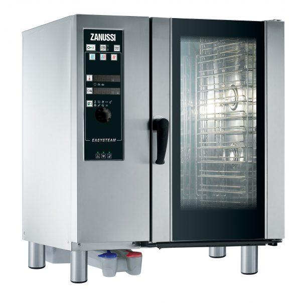 EASY PLUS KONVEKTION 10X1/1GN EL, Zanussi med dyse damp og automatisk vaskesystem