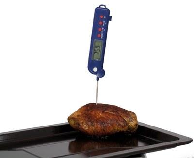 Termometer med foldbar føler og temperaturområde fra -50 ° til 300 ° C.