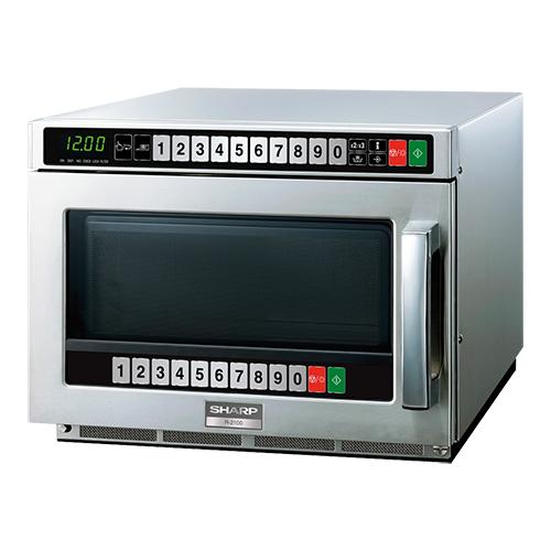 Professionel microbølgeovn 21 liter og 2100 watts effekt fra Sharp - op til 100 programmer