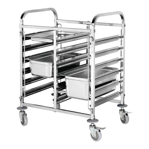 Stikvogn / trolley til 2 x 6 Gastronorm bakker (GN)