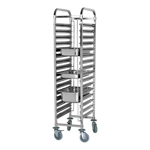 Stikvogn / Trolley med 16 stik til gastronorm bakker (GN)