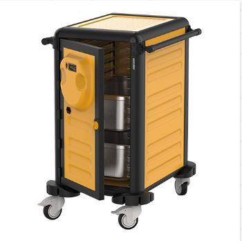 Transportvogn med varme 15 x 1/1 GN med temperatur 30-90 grader, er ideel for især cateringvirksomheder.