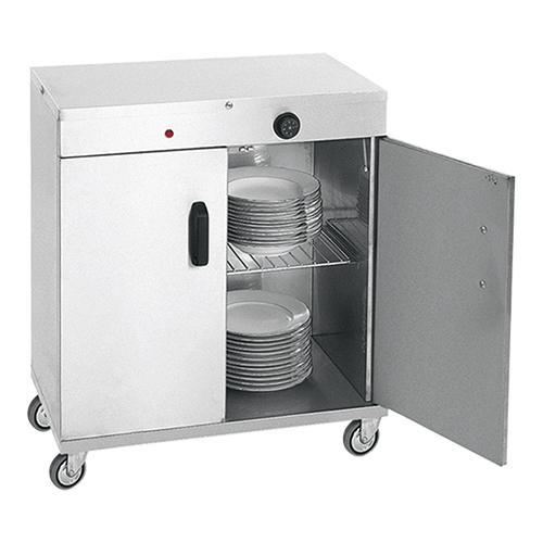 Varmeskab på hjul  - plads til 80 stk. Ø320  tallerkener