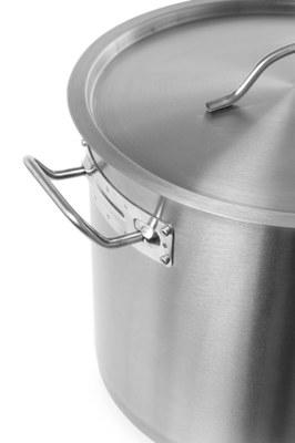 22 liters gryde med låg - Hendi budget line - til alle varmekilder - varmeresistente håndtag