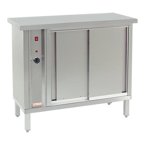 Varmeskab med skydelåger - plads til 120 stk. Ø320  tallerkener