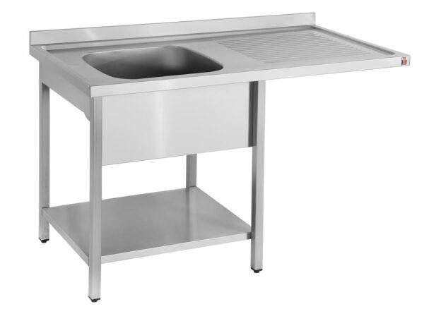 Rustfri bord med vask og plads opvasker - vask i højre eller venstre side