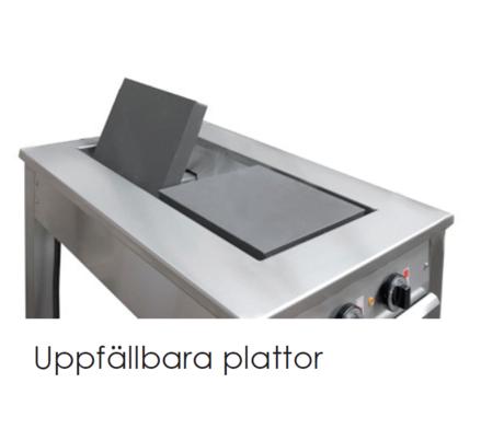 Masseplade kogebord fra Metalo  - vendbare plader for let rengøring