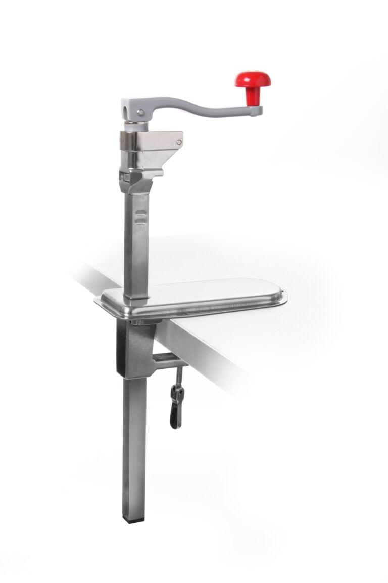 Dåseåbner til bordmontering i kraftig kvalitet