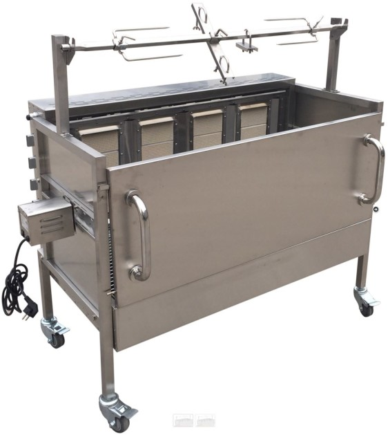 Fantastisk Event Rotisserie grill - til gas OG kul - til hele lam og pattegrise, samt bøffer, pølser mv - allround grill-.