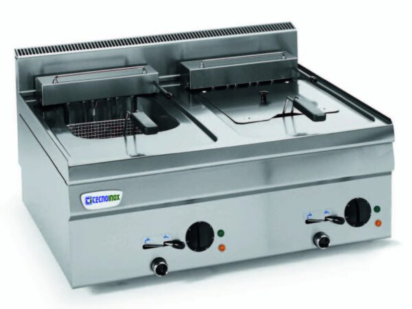 Dobbelt friture (15 kW) til el fra italienske Tecnoinox i absolut topkvalitet.