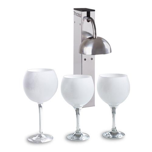 Glas froster hurtig nedkøling af glas - sker på få sekunder