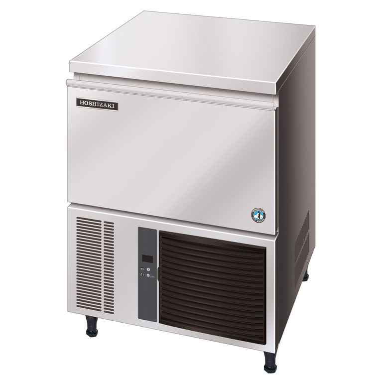 Hoshizaki er IM-45 CNE er en kompakt og robust maskine med kabinet i rustfrit stål.