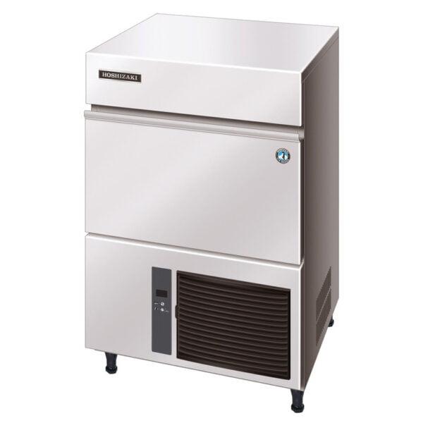 Hoshizaki er IM-65 NE er en robust maskine med kabinet i rustfrit stål, der produceret krystalklare isterninger