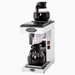 Queen kaffemaskine med 2 plader / kander og manuel vandpåfyldning