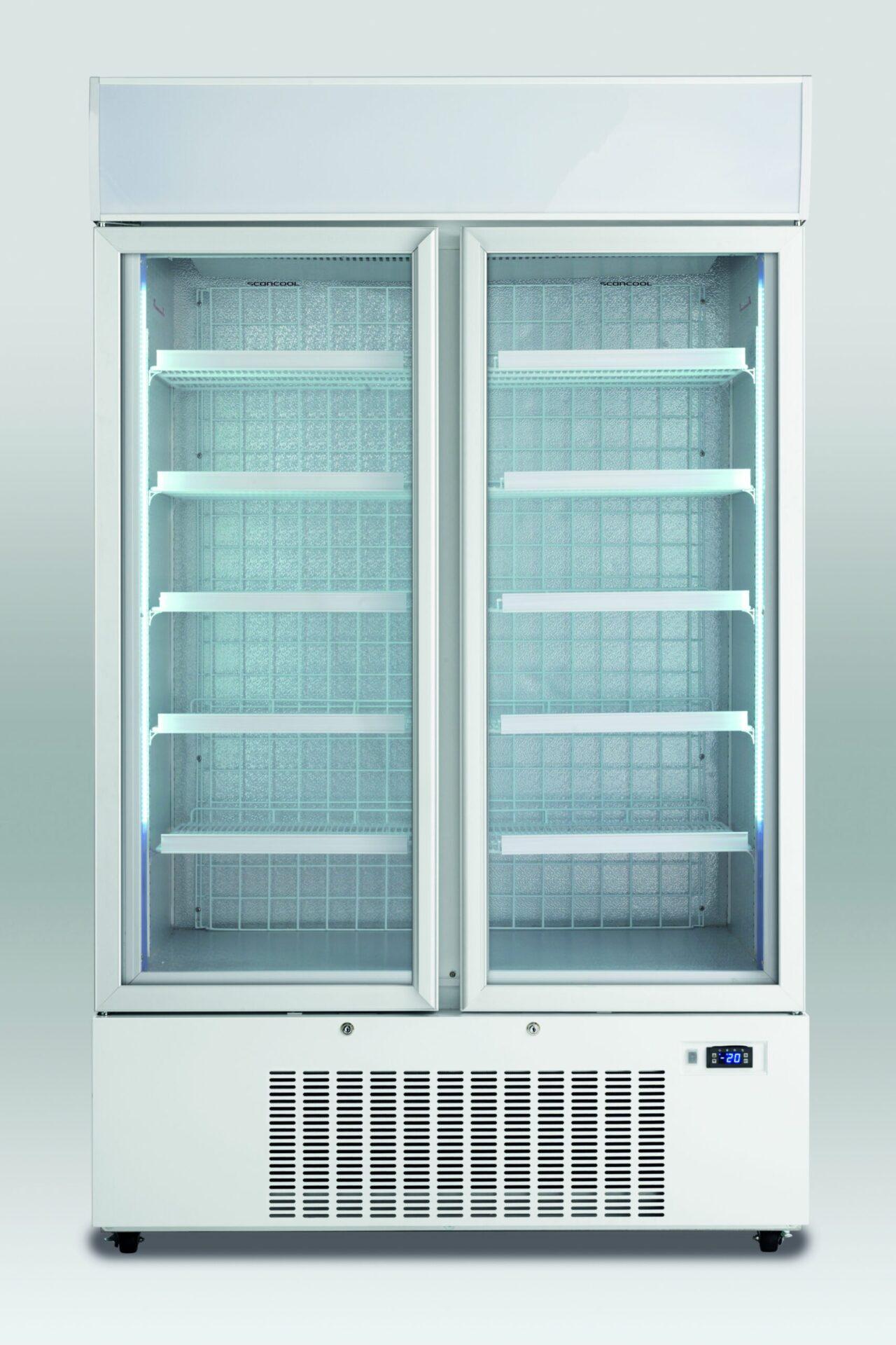 Dobbelt displayfryser, Scan KF 990  perfekt til forretningen med selvbetjeningsvarer.