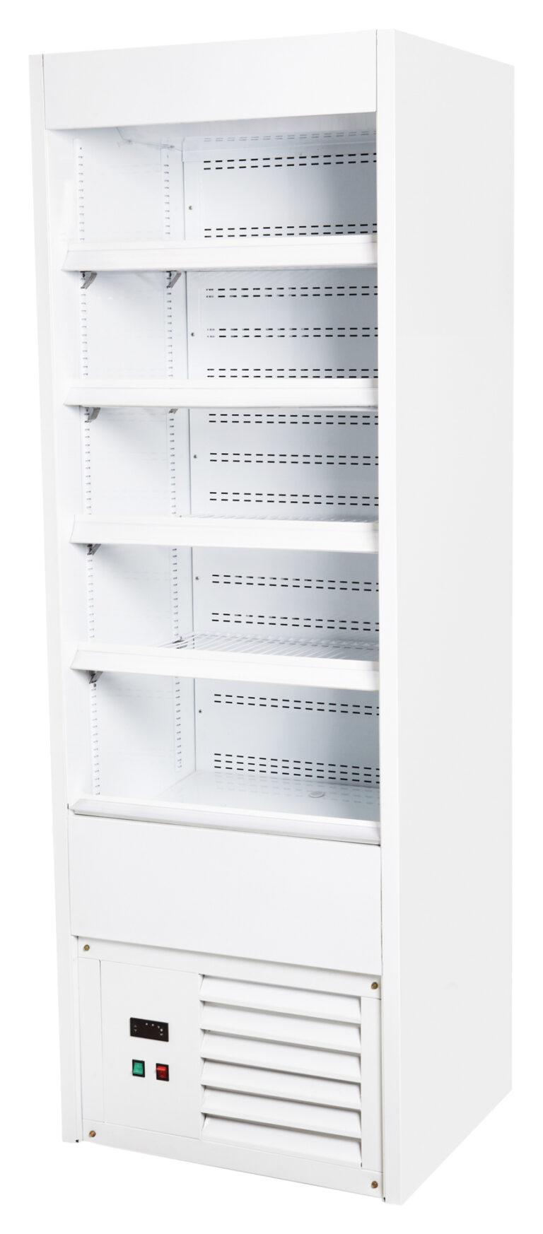Åben kølereol i hvid
