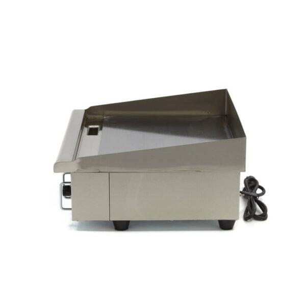 Stegeplade med glat plade, 3 kW - 230V  - kraftig model - høj stænkskærm