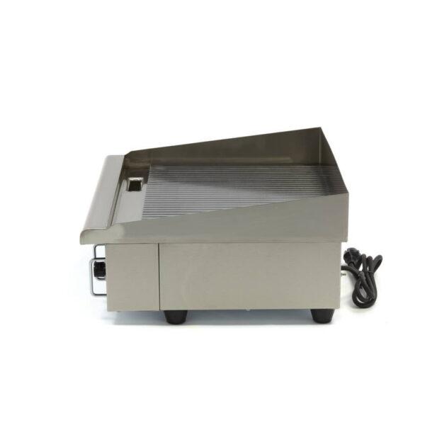 Stegeplade med rillet stegeflade plade, 3 kW - 230V  - kraftig model med høj stænkskærm