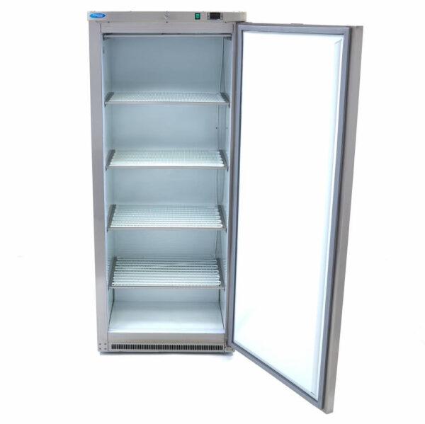 Lagerfryseskab, rustfri stål -600 liter, Maxima - 4 faste hylder