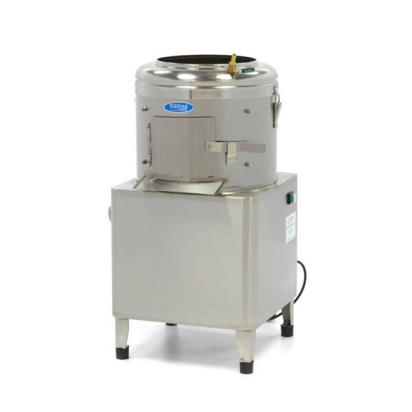 kartoffelskræller, 8-10 kg - Maxima - prisbillig professional kartoffel- grøntsagsskræller - tilsluttes vand