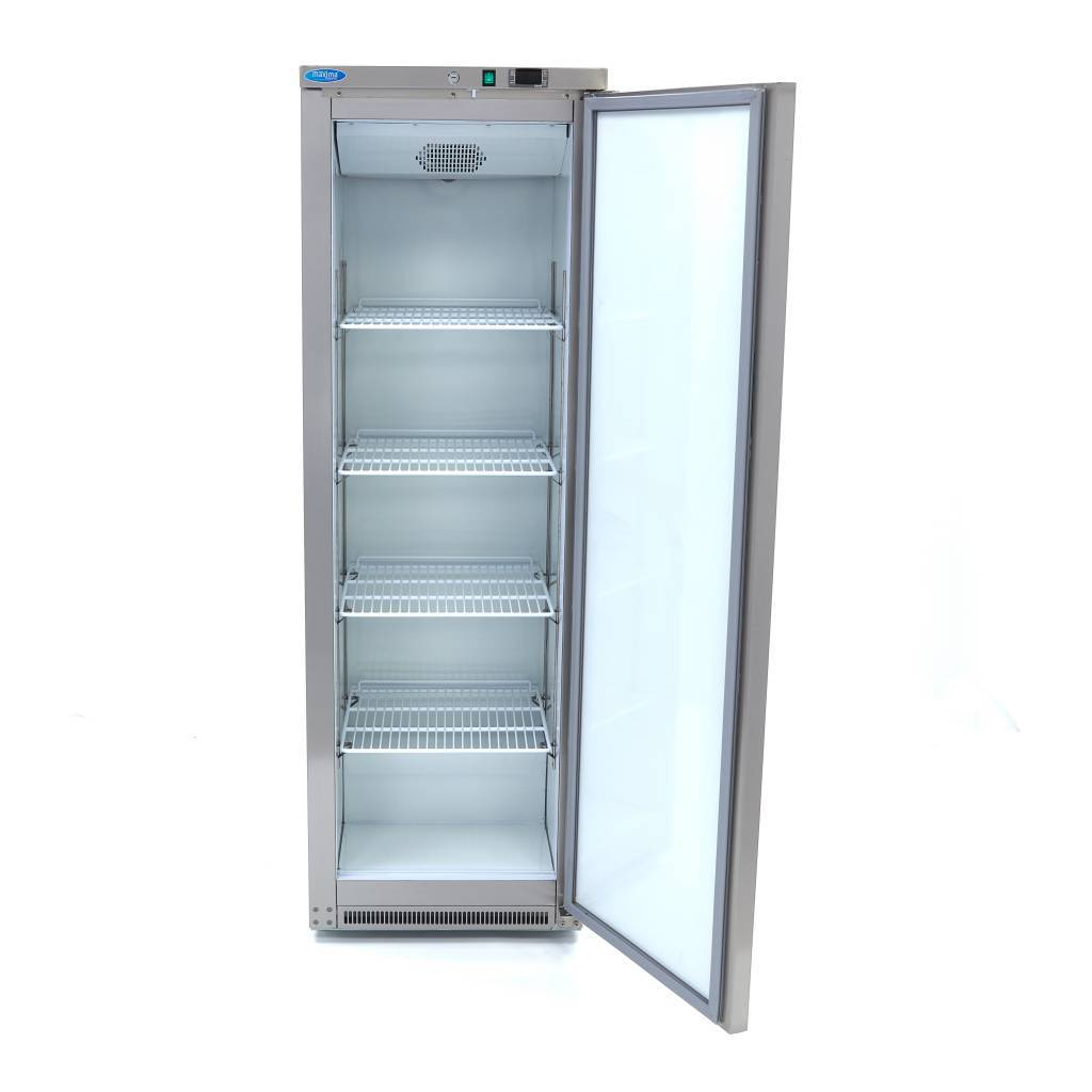 Lagerkøleskab, Maxima 400 liter i rustfri stål - ventilleret køling