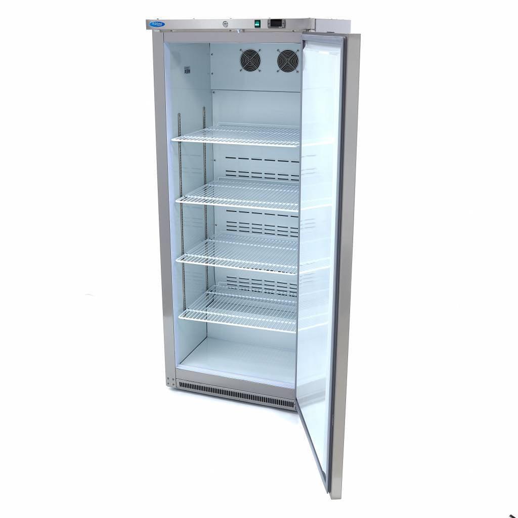 Lagerkøleskab, 600 liter i rustfri stål fra Maxima  - 4 justerbare hylder