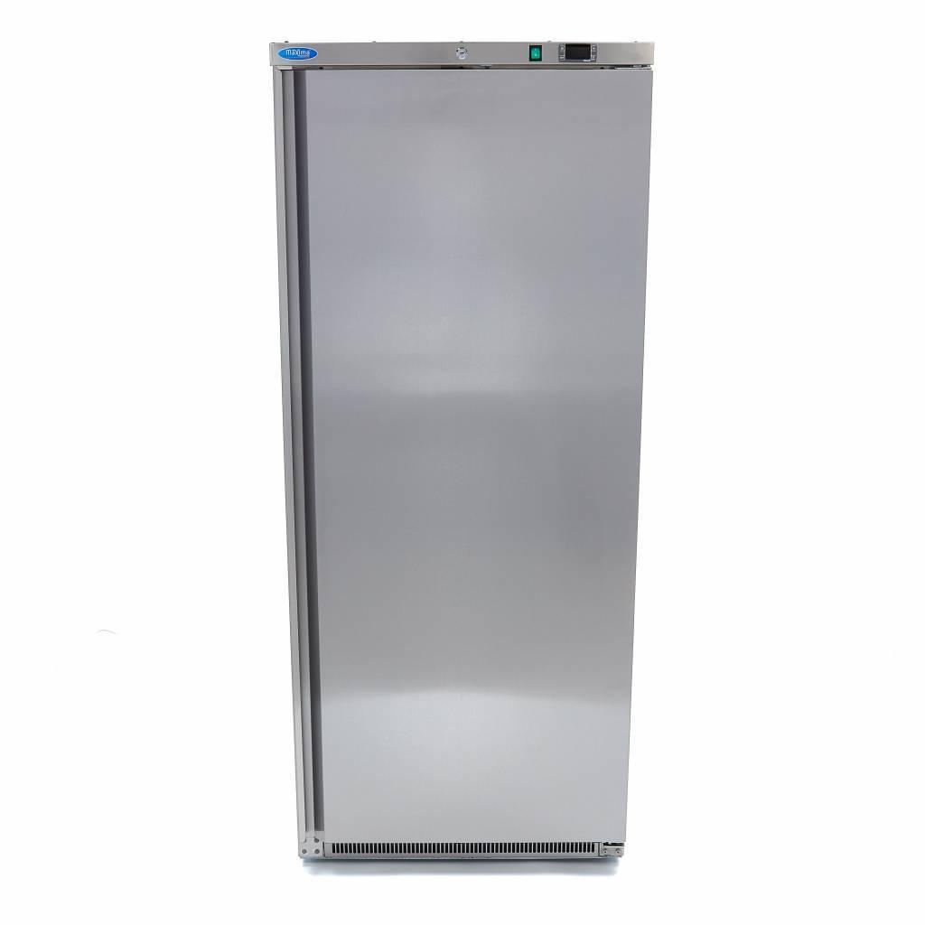 Lagerkøleskab, 600 liter i rustfri stål fra Maxima  - Zanussi kompressor