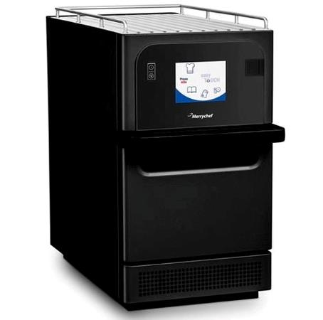 Merrychef E2S HP turboovn, effektiv højhastighedsovn, som er velegnet til hurtig opvarmning af produkter på. f.eks, snackbarer, tankstationer mv.