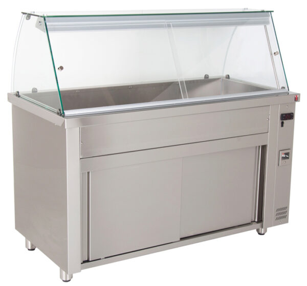 Bain Marie / Vandbad display med varmeskab fra INOMAK