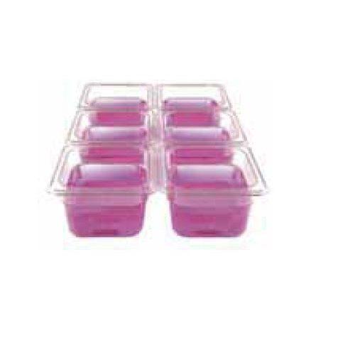 Gastrobakke 1/6 GN i flere dybder i polycarbonat