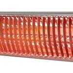 RIO GRANDE væg / lofthængt terrassevarmer til EL i sølv