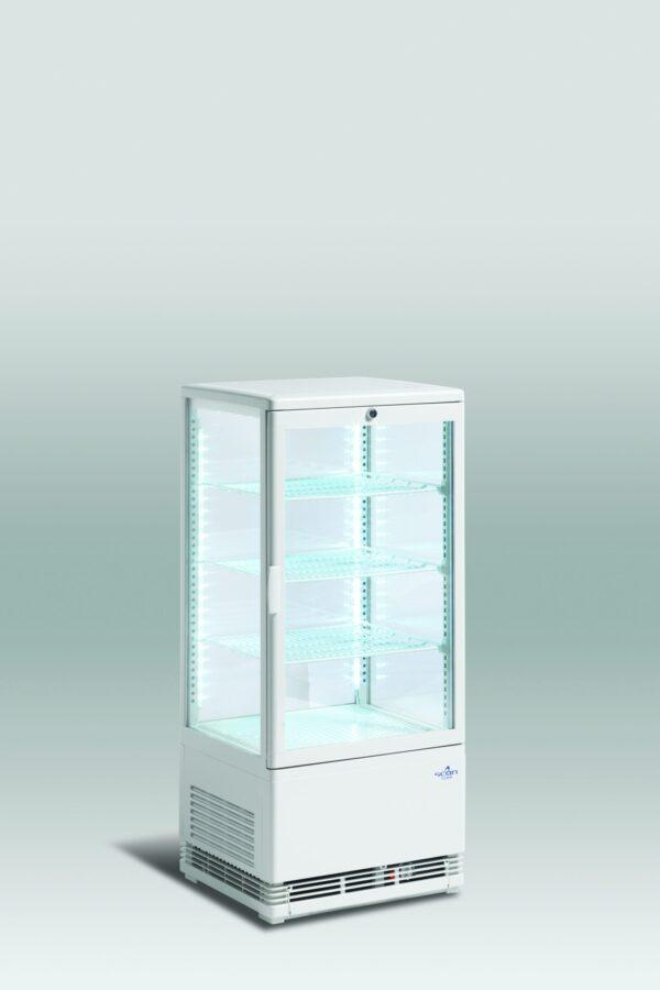 Kagemontre / kølemontre i hvid  78 liter - isoleret glas
