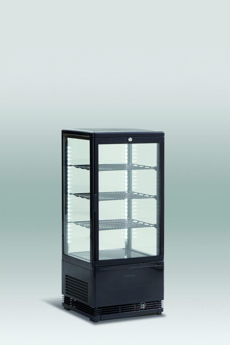 Kagemontre / kølemontre i sort - 78 liter