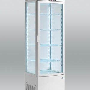 Displaykøler 235 liter - hvid gulvmodel med lys til feks. kager