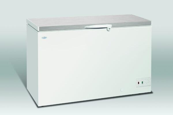 Opbevaringsfryser med stållåg, 368 liter fra Scan