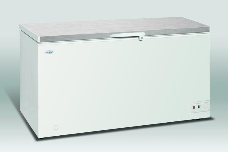Opbevaringsfryser med stållåg, 459 liter fra Scan