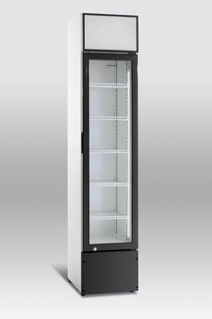 """SLIM"" flaskekøleskab / displaykøler fra Scandomestic - kun 39 cm bred"