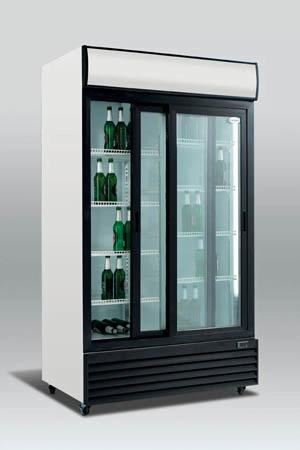 Dobbelt display køleskab, 1000 liter, scandomestic - hængslede-  eller skydelåger