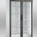 Flaskekøleskab på 600 liter fra Scandomestic med 2 hænglede døre