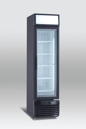 Display fryser, Scandomestic, SF 217 - elegant sort fryseskab
