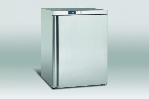 Køleskab underbordsmodel på 145 liter i rustfri stål