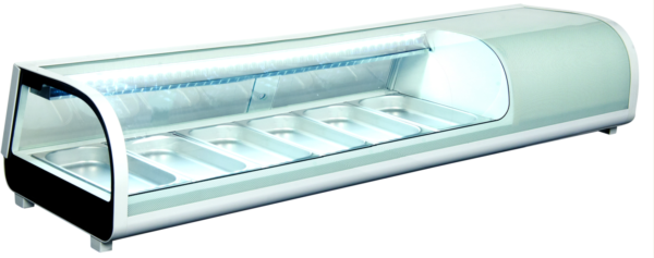 Sushidisk på 180 cm med LED - med faldkøl