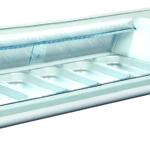 Sushidisk med LED 153 cm i længden - med faldkøl