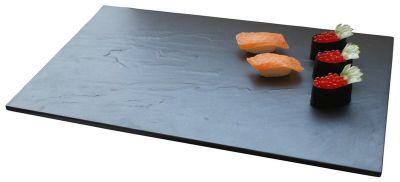 Elegant fad eller tallerken i granit i gastromål